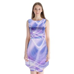 Abstract Graphic Design Background Sleeveless Chiffon Dress