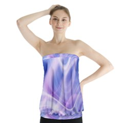 Abstract Graphic Design Background Strapless Top