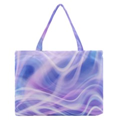 Abstract Graphic Design Background Medium Zipper Tote Bag