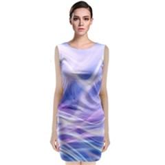 Abstract Graphic Design Background Sleeveless Velvet Midi Dress