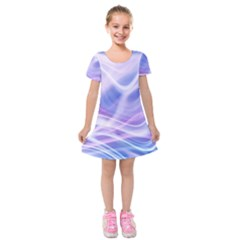 Abstract Graphic Design Background Kids  Short Sleeve Velvet Dress