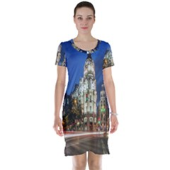 Architecture Building Exterior Buildings City Short Sleeve Nightdress
