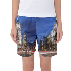 Architecture Building Exterior Buildings City Women s Basketball Shorts
