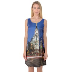 Architecture Building Exterior Buildings City Sleeveless Satin Nightdress
