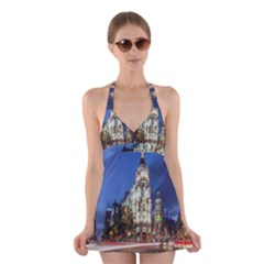 Architecture Building Exterior Buildings City Halter Swimsuit Dress