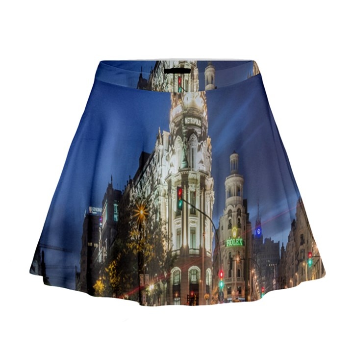 Architecture Building Exterior Buildings City Mini Flare Skirt
