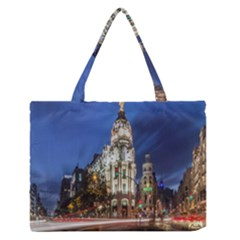 Architecture Building Exterior Buildings City Medium Zipper Tote Bag