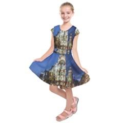 Architecture Building Exterior Buildings City Kids  Short Sleeve Dress