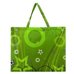 Art About Ball Abstract Colorful Zipper Large Tote Bag