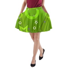 Art About Ball Abstract Colorful A-Line Pocket Skirt