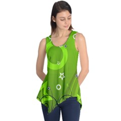 Art About Ball Abstract Colorful Sleeveless Tunic