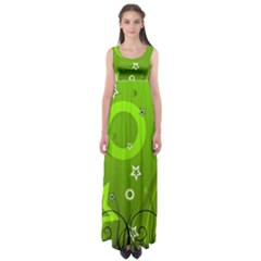 Art About Ball Abstract Colorful Empire Waist Maxi Dress