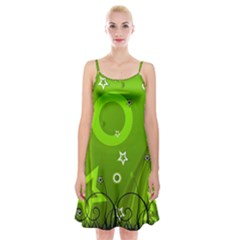 Art About Ball Abstract Colorful Spaghetti Strap Velvet Dress