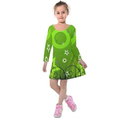 Art About Ball Abstract Colorful Kids  Long Sleeve Velvet Dress