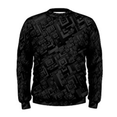 Black Rectangle Wallpaper Grey Men s Sweatshirt