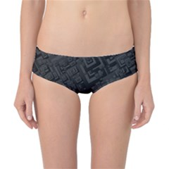 Black Rectangle Wallpaper Grey Classic Bikini Bottoms