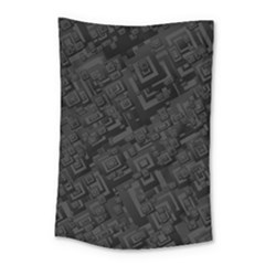Black Rectangle Wallpaper Grey Small Tapestry