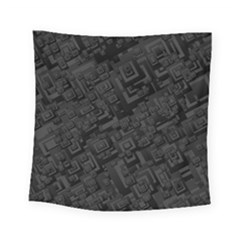 Black Rectangle Wallpaper Grey Square Tapestry (small)