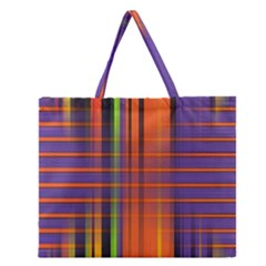 Background Texture Patterncake Happy Birthday Zipper Large Tote Bag