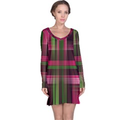 Background Texture Pattern Color Long Sleeve Nightdress