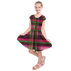 Background Texture Pattern Color Kids  Short Sleeve Dress
