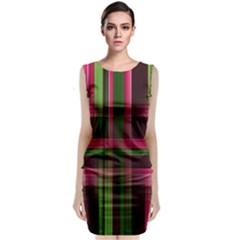 Background Texture Pattern Color Sleeveless Velvet Midi Dress
