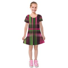 Background Texture Pattern Color Kids  Short Sleeve Velvet Dress