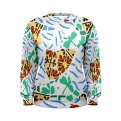 Broken Tile Texture Background Women s Sweatshirt