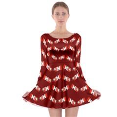 Christmas Crackers Long Sleeve Skater Dress