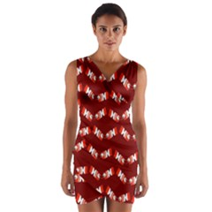 Christmas Crackers Wrap Front Bodycon Dress