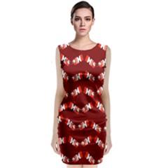 Christmas Crackers Sleeveless Velvet Midi Dress