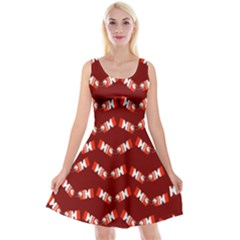 Christmas Crackers Reversible Velvet Sleeveless Dress