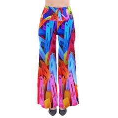 Clothespins Colorful Laundry Jam Pattern Pants