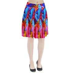 Clothespins Colorful Laundry Jam Pattern Pleated Skirt