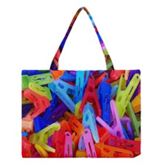 Clothespins Colorful Laundry Jam Pattern Medium Tote Bag