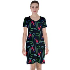 Computer Graphics Webmaster Novelty Pattern Short Sleeve Nightdress