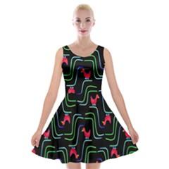 Computer Graphics Webmaster Novelty Pattern Velvet Skater Dress