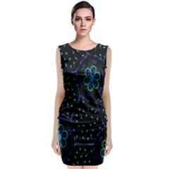 Computer Graphics Webmaster Novelty Sleeveless Velvet Midi Dress