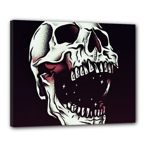 Death Skull Canvas 20  x 16