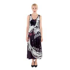 Death Skull Sleeveless Maxi Dress