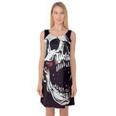 Death Skull Sleeveless Satin Nightdress