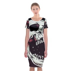 Death Skull Classic Short Sleeve Midi Dress