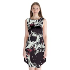 Death Skull Sleeveless Chiffon Dress
