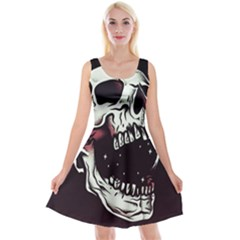 Death Skull Reversible Velvet Sleeveless Dress