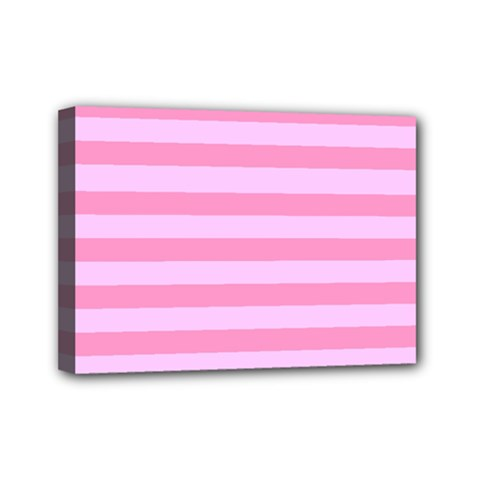 Fabric Baby Pink Shades Pale Mini Canvas 7  x 5
