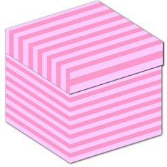 Fabric Baby Pink Shades Pale Storage Stool 12