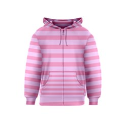 Fabric Baby Pink Shades Pale Kids  Zipper Hoodie