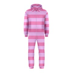 Fabric Baby Pink Shades Pale Hooded Jumpsuit (Kids)
