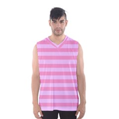Fabric Baby Pink Shades Pale Men s Basketball Tank Top