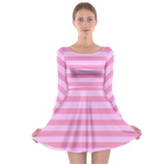 Fabric Baby Pink Shades Pale Long Sleeve Skater Dress
